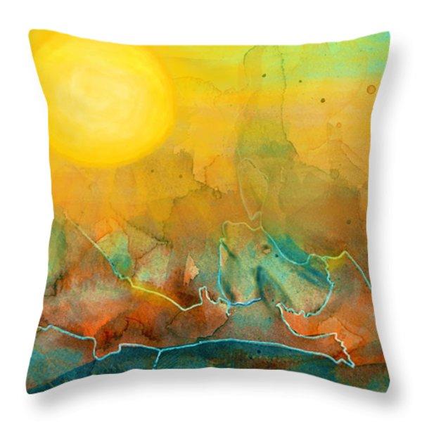 The Rising Sun Throw Pillow by Sandi OReilly