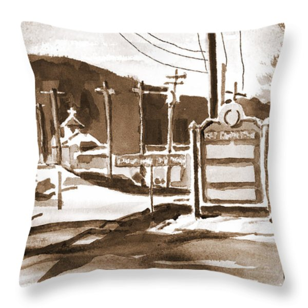 The Road To Farmington Pilot Knob Missouri Throw Pillow by Kip DeVore