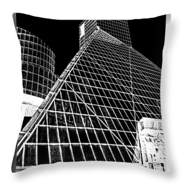The Rock Hall Cleveland Throw Pillow by Kenneth Krolikowski