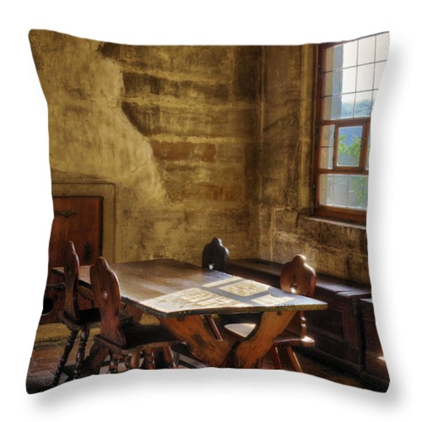 The Room On The Side Throw Pillow by Joan Carroll
