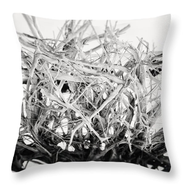 The Roots in Black and White Throw Pillow by Lisa Russo