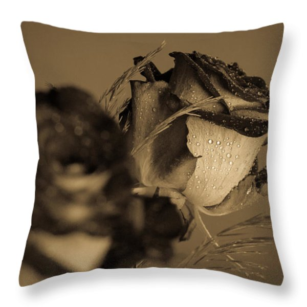 The Rose Throw Pillow by Andreas Levi