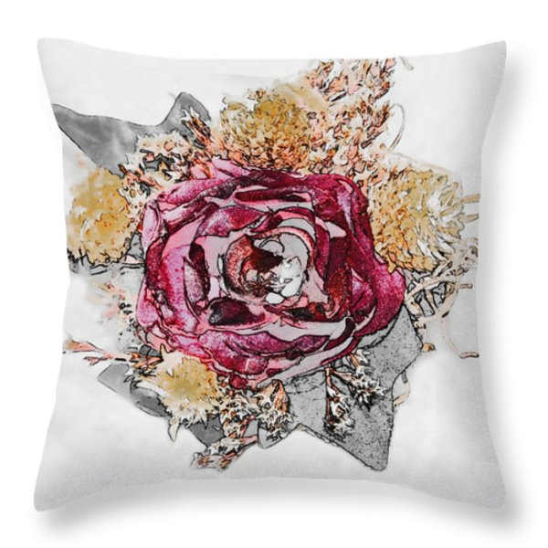 The Rose Throw Pillow by Susan Leggett