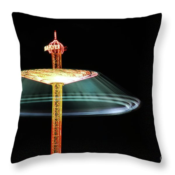 The Rotating Skirt Throw Pillow by Hannes Cmarits