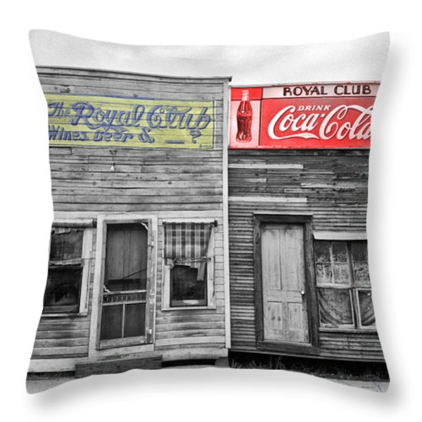 The Royal Club Throw Pillow by Russell Lee