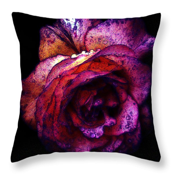 The Royal Rose Throw Pillow by Stephanie Hollingsworth