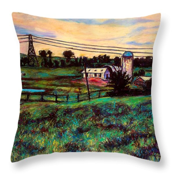 The Rusty Silo Throw Pillow by Kendall Kessler