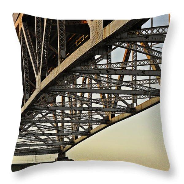 The Sagamore Bridge Throw Pillow by Luke Moore