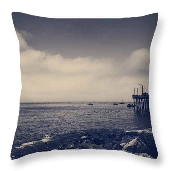 The Salty Air Throw Pillow by Laurie Search