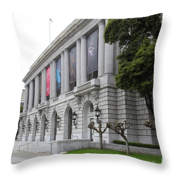 The San Francisco War Memorial Opera House - San Francisco Ballet 5d22485 Throw Pillow by Wingsdomain Art and Photography