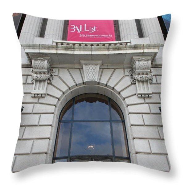 The San Francisco War Memorial Opera House - San Francisco Ballet 5d22582 Throw Pillow by Wingsdomain Art and Photography