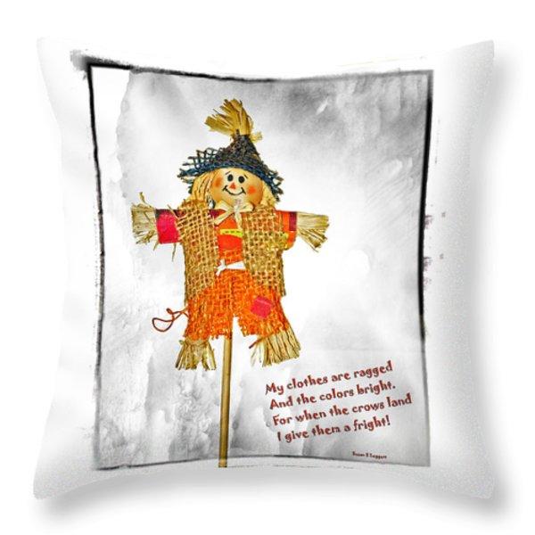 The Scarecrow Throw Pillow by Susan Leggett