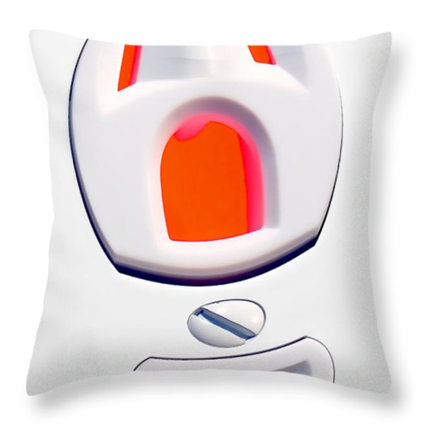 The Scream - Electric Throw Pillow by Olivier Le Queinec