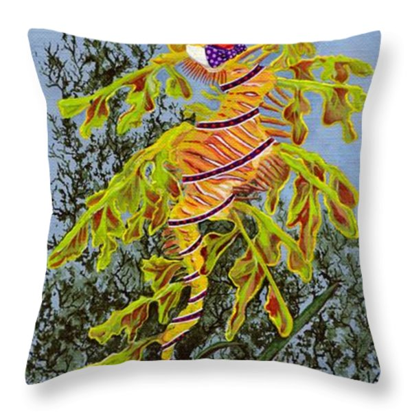 The Sea Hatter Throw Pillow by KJ Swan