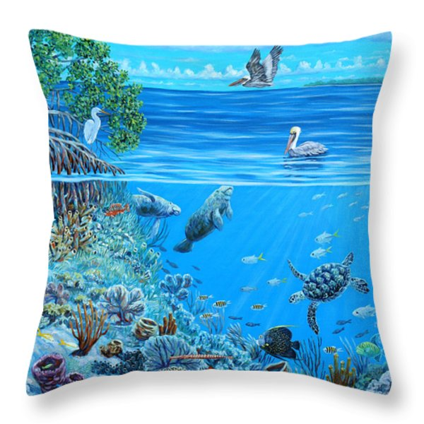 The Sea is Calling Throw Pillow by Danielle  Perry