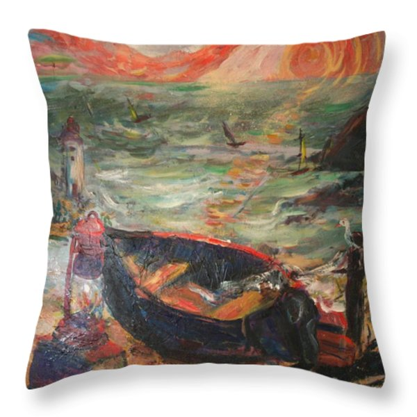 The Sea Of Cortez Throw Pillow by Avonelle Kelsey