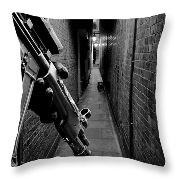 The Search is On Throw Pillow by Jasna Buncic