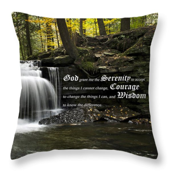 The Serenity Prayer Throw Pillow by Christina Rollo