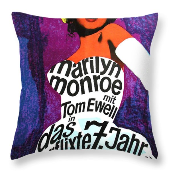 The Seven Year Itch German Throw Pillow by Nomad Art And  Design