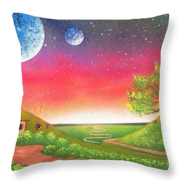 The Shire Throw Pillow by Drew Goehring
