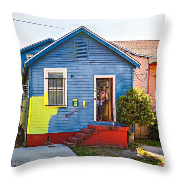 The Shotgun Decorator Throw Pillow by Steve Harrington