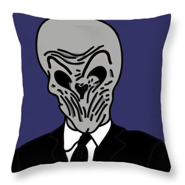 The Silence Throw Pillow by Jera Sky