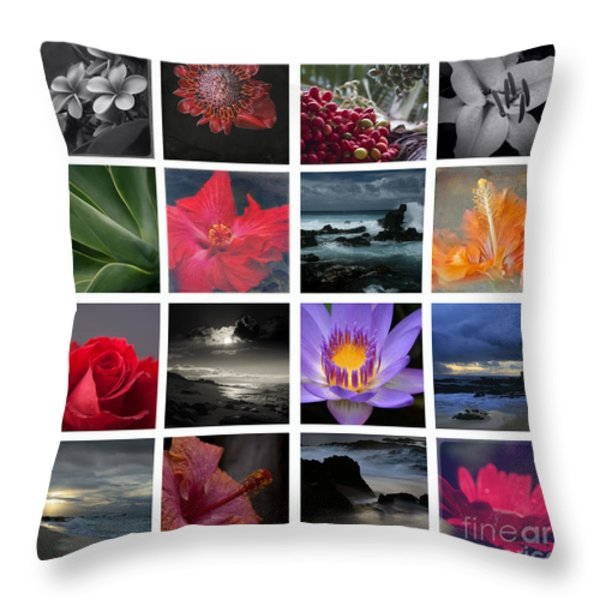 The Silence Of Time Throw Pillow by Sharon Mau