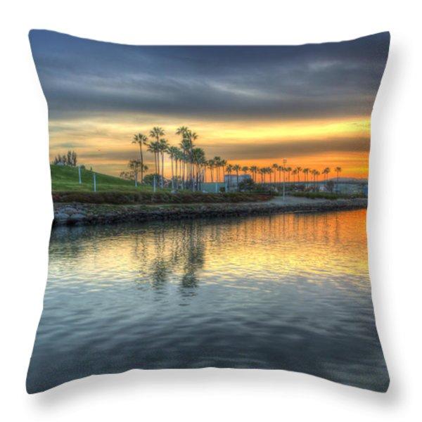 The Sinking Sun Throw Pillow by Heidi Smith