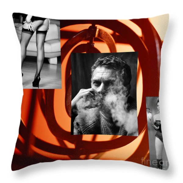 The Sixties What A Ride Throw Pillow by M and L Creations