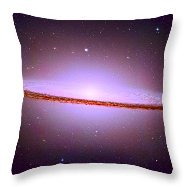 The Sombrero Galaxy M104 Throw Pillow by Don Hammond
