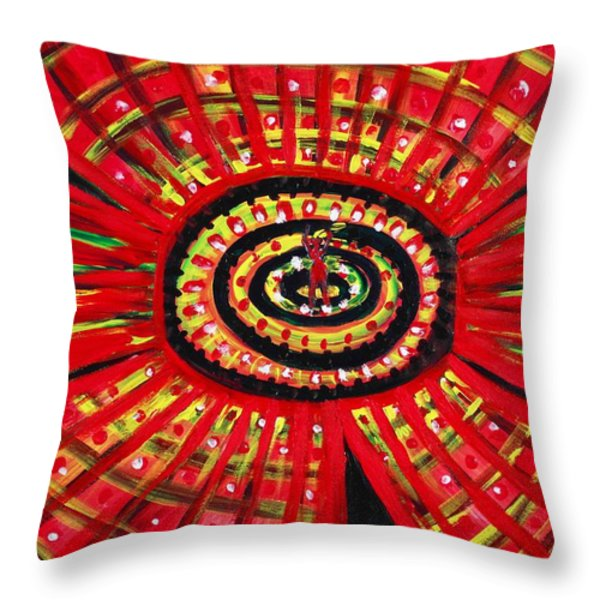 The Soul Of The Flower Throw Pillow by Anastasiya Malakhova