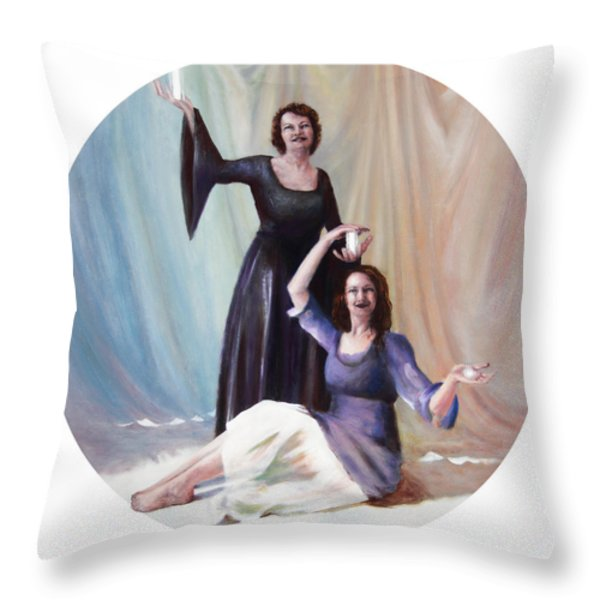 The Source Throw Pillow by Shelley  Irish