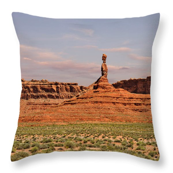 The Spindle - Valley of the Gods Throw Pillow by Christine Till