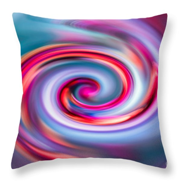 The Spiral Throw Pillow by Hannes Cmarits