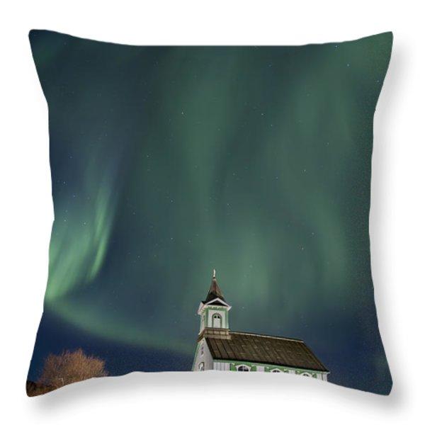 The Spirit of Iceland Throw Pillow by Evelina Kremsdorf