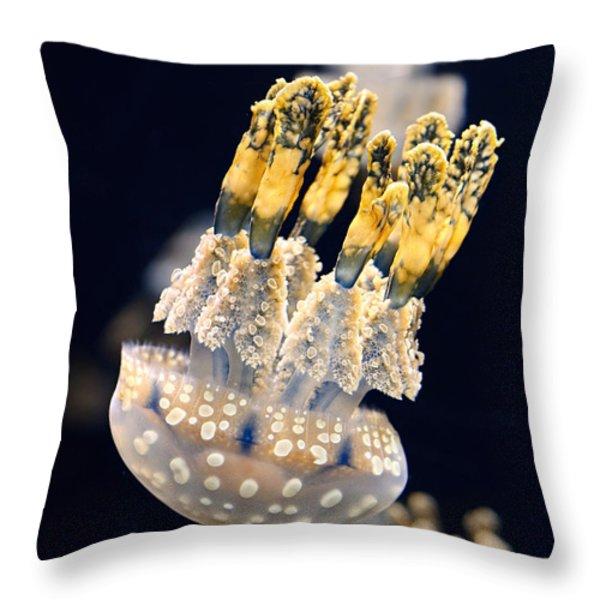 The Spotted Jelly Or Lagoon Jelly Mastigias Papua Throw Pillow by Jamie Pham