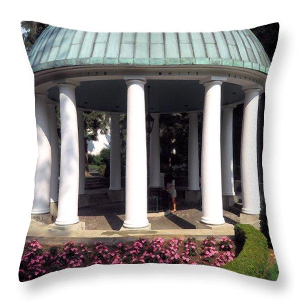 The Spring House Throw Pillow by Thomas R Fletcher