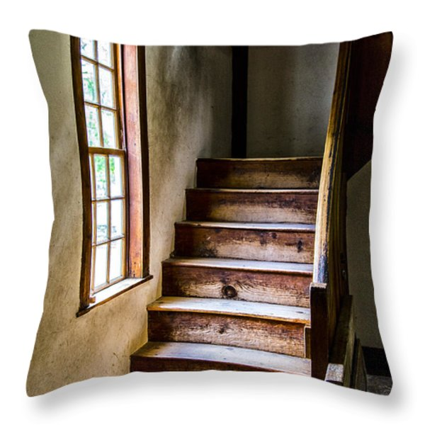 The Stairs Throw Pillow by Karol  Livote