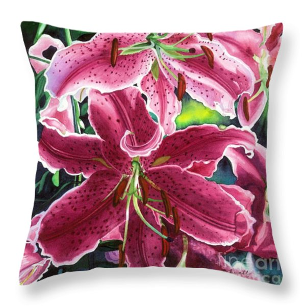 The Stargazers Throw Pillow by Barbara Jewell
