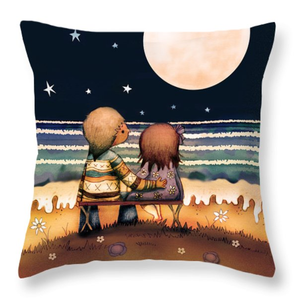The Stars The Moon And The Tide Throw Pillow by Karin Taylor
