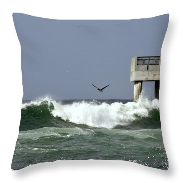 The Storm  Throw Pillow by Debra Forand