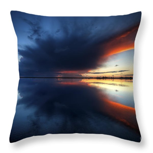 The Storm Throw Pillow by English Landscapes
