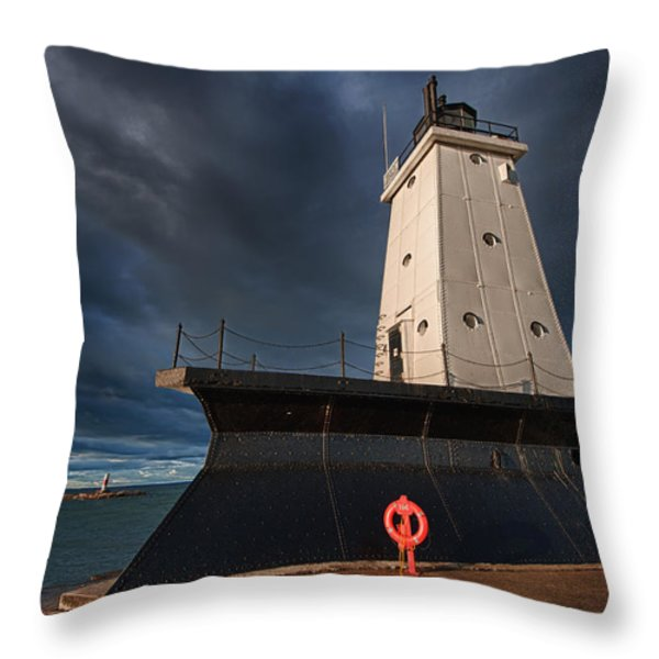 The Storm Throw Pillow by Sebastian Musial