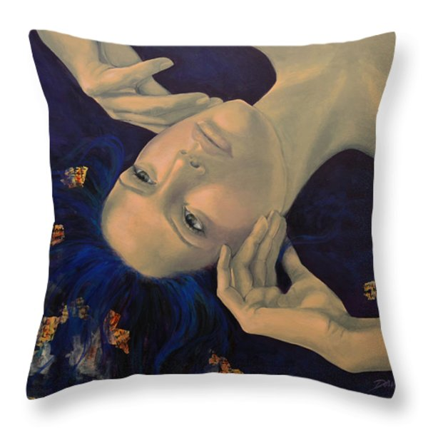 The Story of the Sixth Sense Throw Pillow by Dorina  Costras