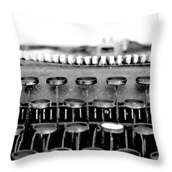 The Story Told BW Throw Pillow by Angelina Vick