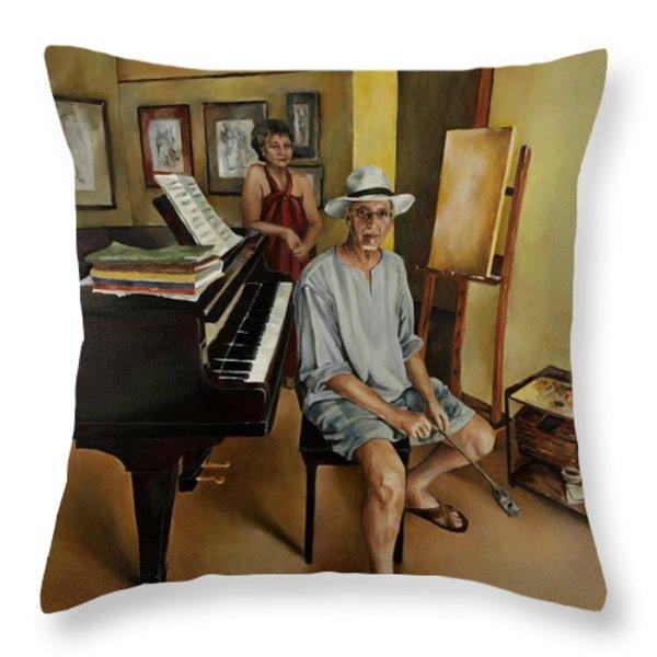The Studio Throw Pillow by Jolante Hesse