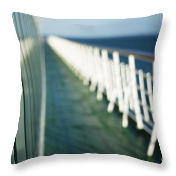 The Sun Deck Throw Pillow by Anne Gilbert