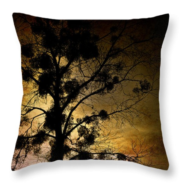 The Sunset Tree Throw Pillow by Loriental Photography