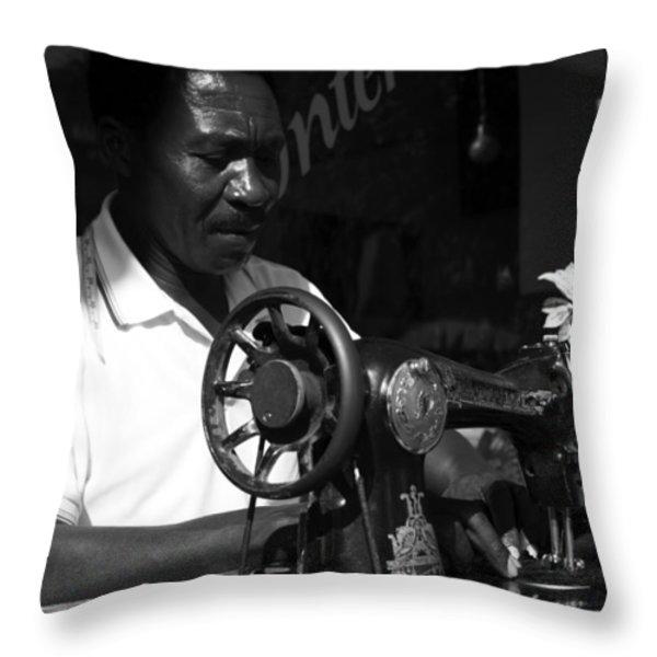 The Tailor - Tanzania Throw Pillow by Aidan Moran