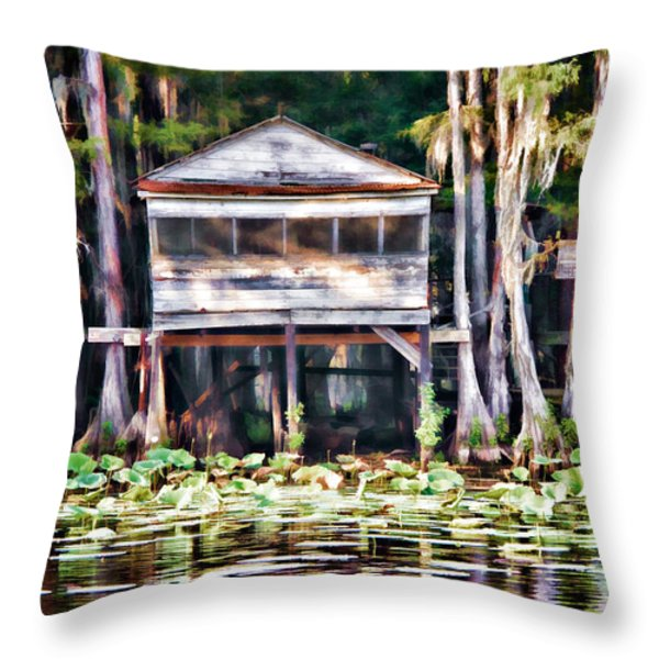 The Tea Room Throw Pillow by Lana Trussell